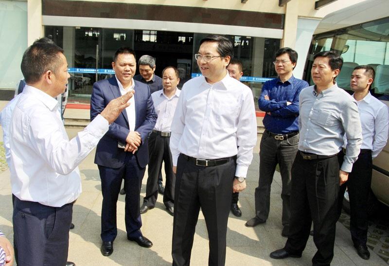 台州市委常委,临海市委书记蔡永波一行走访调研临亚集团