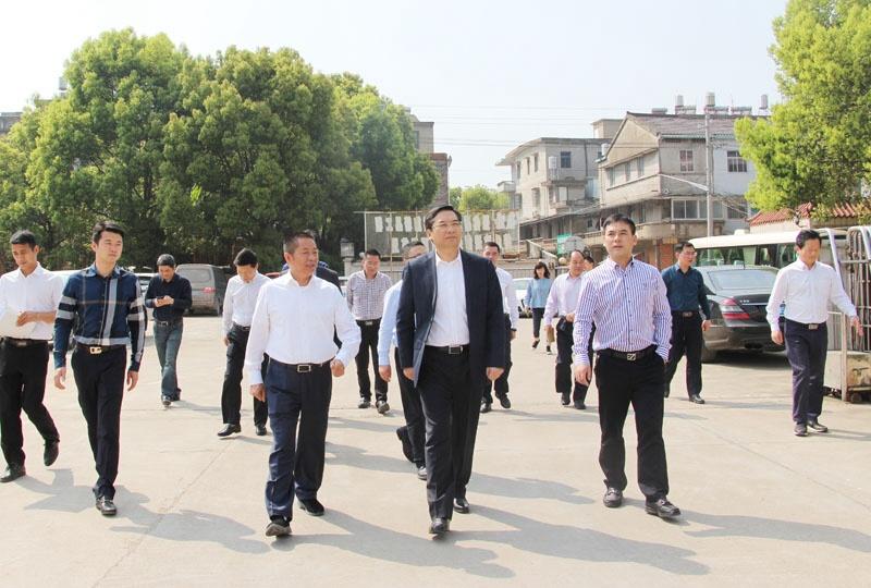 4月2日上午,台州市委常委,临海市委书记蔡永波到东塍镇